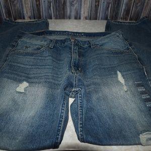Aeropostale Men's Distressed Jeans 33x32 Straight